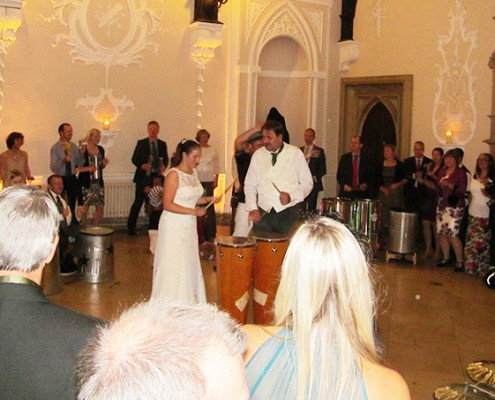 wedding drumming band hire