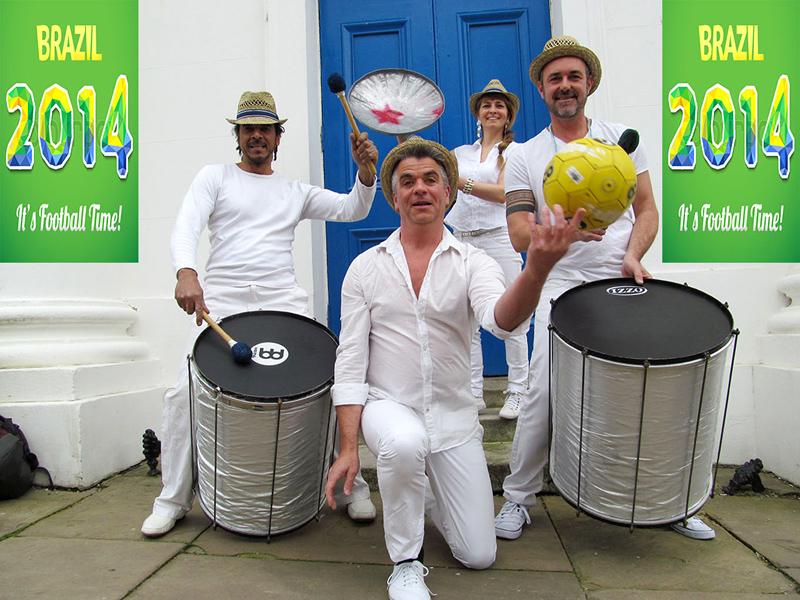 world cup clatteratti drumming samba band